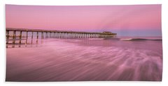 Beach Towel featuring the photograph Myrtle Beach Fishing Pier At Sunset Panorama by Ranjay Mitra
