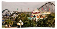 Myrtle Beach Pavillion Amusement Park Beach Towel by Bob Pardue