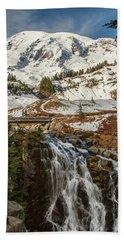 Myrtle Falls, Mt Rainier Beach Towel