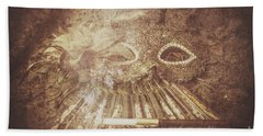 Mysterious Vintage Masquerade Beach Towel by Jorgo Photography - Wall Art Gallery