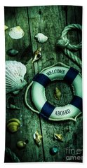 Mystery Aboard The Sunken Cruise Line Beach Towel