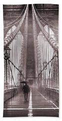 Mystery Man Of Brooklyn Beach Towel by Az Jackson