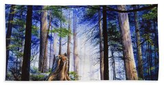 Mystic Forest Majesty Beach Towel