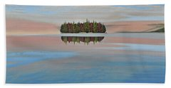 Beach Towel featuring the painting Mystic Island by Kenneth M  Kirsch