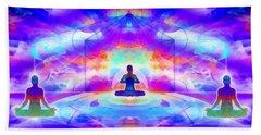 Beach Towel featuring the digital art Mystic Universe 10 by Derek Gedney