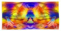 Beach Towel featuring the digital art Mystic Universe 12 by Derek Gedney