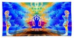Beach Towel featuring the digital art Mystic Universe 13 by Derek Gedney