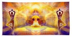 Beach Towel featuring the digital art Mystic Universe 14 by Derek Gedney