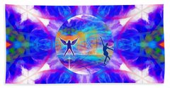 Beach Towel featuring the digital art Mystic Universe 15 Kk2 by Derek Gedney