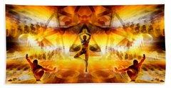 Beach Towel featuring the digital art Mystic Universe 7 by Derek Gedney