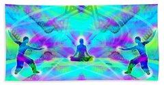 Beach Towel featuring the digital art Mystic Universe 8 by Derek Gedney