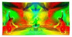 Beach Towel featuring the digital art Mystic Universe 9 by Derek Gedney