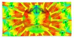 Beach Towel featuring the digital art Mystic Universe Kk 9 by Derek Gedney