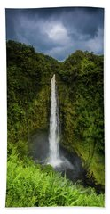 Beach Towel featuring the photograph Mystic Waterfall by Break The Silhouette