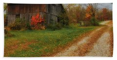 Mystical Country Lane  Beach Towel