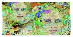 Mystical Eyes Beach Towel