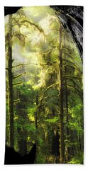 Mystical Forest Opening Beach Towel by Leland D Howard