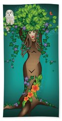 Mystical Maiden Tree Beach Towel by Serena King