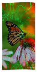 Mystical Monarch Beach Towel