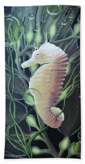 Beach Towel featuring the painting Mystical Sea Horse by Dianna Lewis