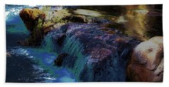 Mystical Springs Beach Sheet by DigiArt Diaries by Vicky B Fuller