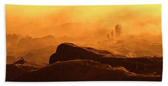 mystical view from Mt bromo Beach Towel