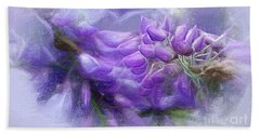 Beach Towel featuring the photograph Mystical Wisteria By Kaye Menner by Kaye Menner