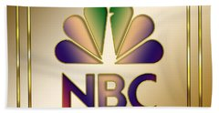 N B C Logo - Art Deco Beach Towel by Chuck Staley