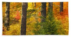 N W Autumn Beach Towel