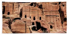 Beach Towel featuring the photograph Nabataeans' City by Mae Wertz