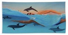 Nadando Contra Corriente Beach Sheet