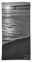 Nags Head First Light Bw Beach Sheet