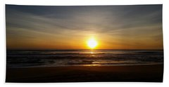 Nags Head Sunrise Beach Towel by Mark Minier