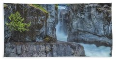 Beach Towel featuring the photograph Nairn Falls by Jacqui Boonstra