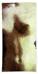 Naked Female Torso  Beach Towel