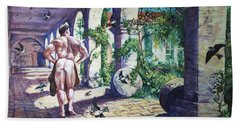 Naked In The Cloisters Beach Towel