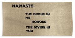 Namaste #2 Beach Towel