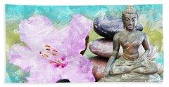 Namaste Buddha Beach Sheet