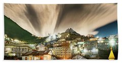 Namche Night Beach Towel