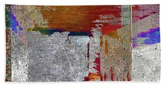 Beach Towel featuring the mixed media Name This Piece by Tony Rubino