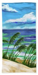 Beach Towel featuring the painting Names In The Sand 2 by Tim Gilliland
