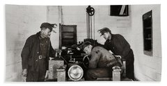 Nanticoke Pa Buttonwood Colliery Inman Shaft Glen Alden Coal Underground Motor Pit 1945 Beach Towel