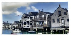 Nantucket Harbor In Summer Beach Sheet