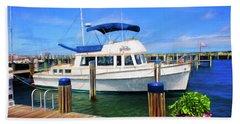 Nantucket Harbor Safe Harnor Series 52 Painted Beach Towel