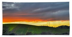 Napa Sunrise Beach Towel