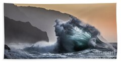Napali Coast Hawaii Wave Explosion IIi Beach Towel