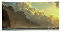 Napali Coast Kauai Hawaii Dramatic Sunset Beach Sheet