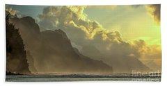 Napali Coast Kauai Hawaii Dramatic Sunset Beach Towel
