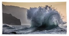 Napali Coast Kauai Wave Explosion Beach Sheet