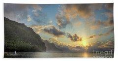 Napali Coast Sunset Kauai Beach Towel